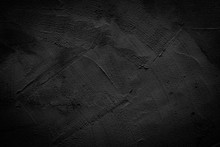 Black Wall Texture Pattern Rough Background.