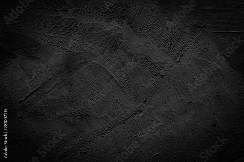 Black wall texture pattern rough background. Wallpaper Mural