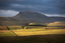 Soft Light Beneath The Flanks Of Pen-y-ghent, One Of The Famous Yorkshire Three Peaks, Yorkshire Dales, North Yorkshire