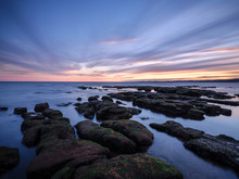 Maer Rocks In Evening Twilight...