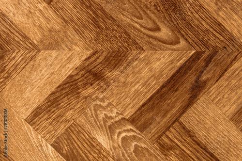 Photo Parquet herringbone chevron wood background floor texture