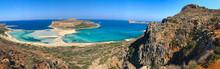 Balos Beach View Kreta Panorama Berge Greece Kissamos Chania