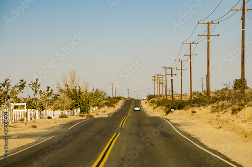 Foto op Canvas Route 66 scenes on old route 66 in california