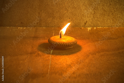 Still life - Candle in Loi Krathong Festival Wallpaper Mural