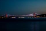 Night Cityscape Istanbul Bosphorus Bridge