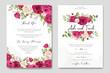 elegant wedding card design with beautiful roses wreath template