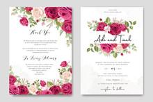 Elegant Wedding Card Design Wi...