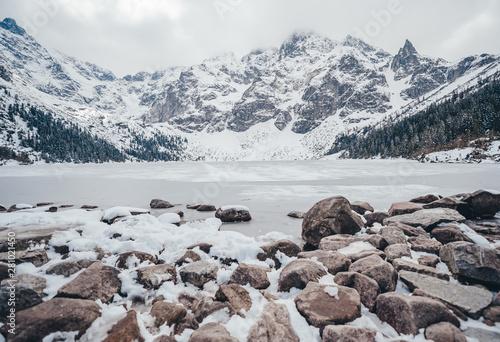 fototapeta na drzwi i meble Mountain lake near Morskie Oko, Zakopane