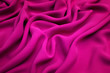 canvas print picture - The texture of silk fabric in fuchsia. Background, pattern.