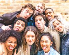 Multiracial Friends Taking Sel...