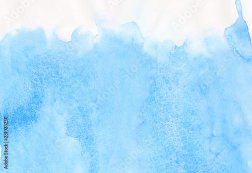 Fototapeta Aquarelle Painted Paper Textured Canvas For Vintage Design Invitation Card Template Blue Sky Shades Color Watercolor Illustration