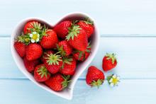 Strawberry Heart. Fresh Strawb...