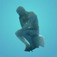 Artistic Thinker Man Sculpture...