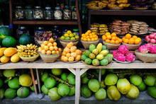 Tropical Fruits In Morning Market, Bali, Indonesia