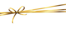 Golden Colored Ribbon Bow
