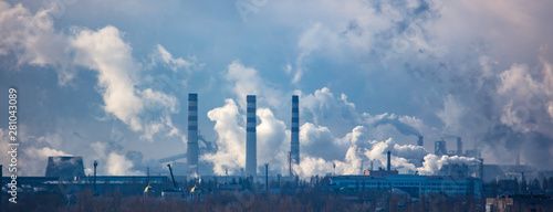 obraz PCV Smoke from pipes of metallurgical plant