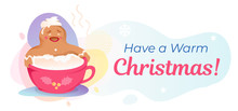 Have Warm Christmas Banner Template