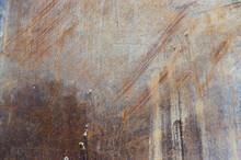 Stahlplatte Als Fahrplatte Oder Überfahrplatten Verrostet, Zerkratzt Und Verschmutzt Bei Einsatz Auf Baustelle Als Hintergrund Mit Verschiedenen Designs