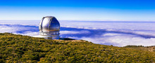 Biggest Oservatory In Europe - La Palma, Canary Islands. Popular Tourist Attraction