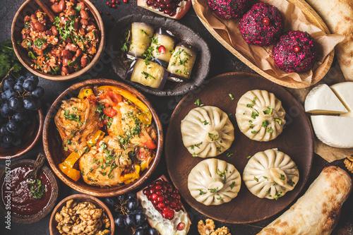 Photo  Traditional Georgian cuisine background