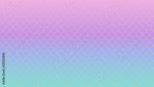 Photographie  Lilac turquoise magic gradient vector background