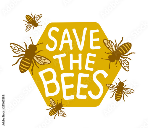 Foto Save The Bees Design with Text