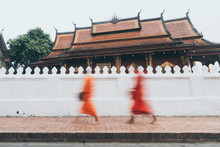 Buddhist Monks During Laotian ...