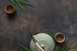 Leinwanddruck Bild - Green Tea Set