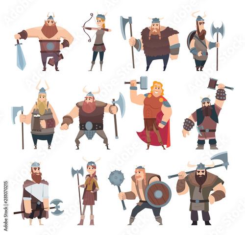 Fototapeta Viking cartoon