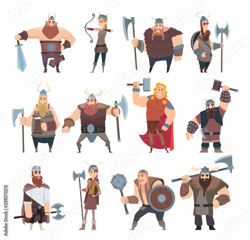 Cuadros en Lienzo  Viking cartoon