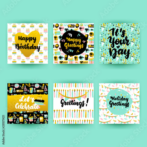 Happy Birthday Postcards Slika na platnu