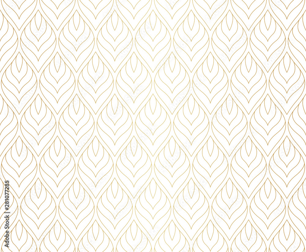 Fototapeta Vintage Seamless Geometric Pattern. Abstract Vector Background. Art Deco Texture.