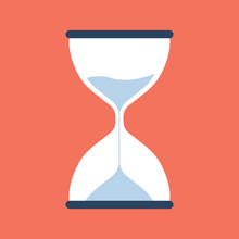 Timer Sand Hourglass Icon Flat...