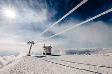Ski Lift On Etna - Sicily - It...