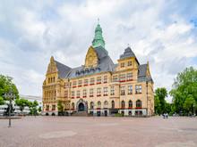 Recklinghausen Ruhrgebiet Nordrhein-Westfalen Rathaus Rathausplatz Kaiserwall Erlbruch Deutschland