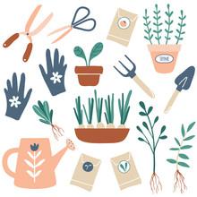 Vector Hand Drawn Illustrations Of Gardening