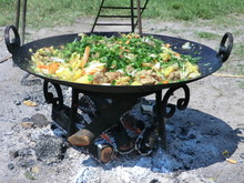 Ukrainian Dish: Potatoes With Meat And Vegetables Cooked On The Fire