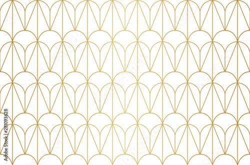 Fototapeten Künstlich Classic art deco seamless pattern. Geometric stylish ornament. Vector antique texture.