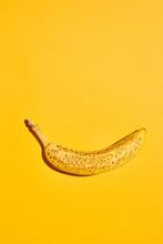 Overripe Banana On Yellow