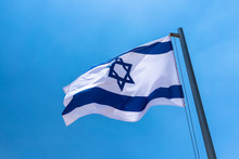 Israeli Flag Blowing In The Wi...