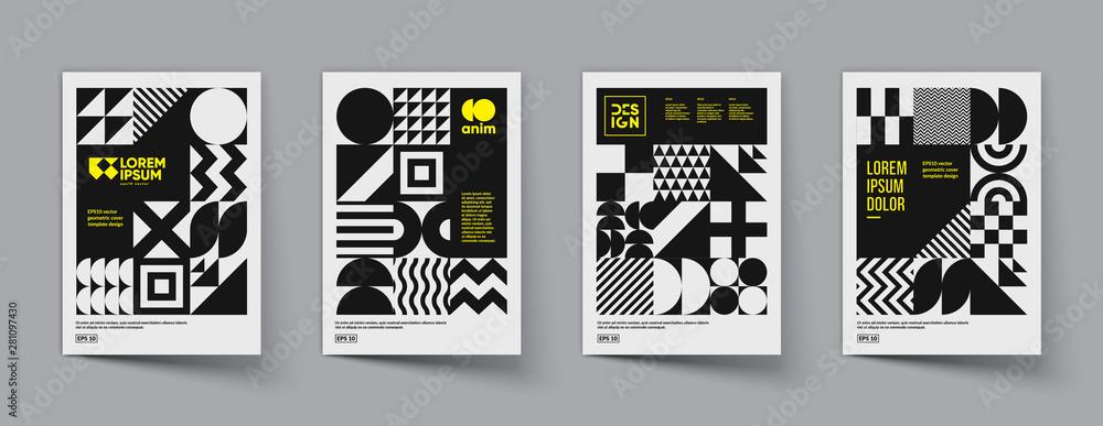 Fototapeta Minimal geometric posters set. Trendy design. Eps10 vector.