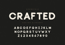 """Vintage Typeface """"Crafted"""""""