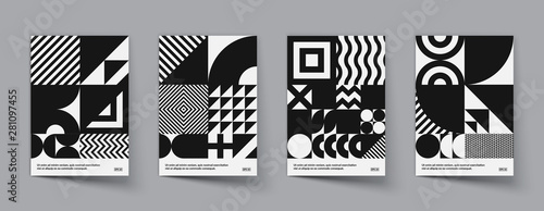 Obraz Minimal geometric posters set. Trendy design. Eps10 vector. - fototapety do salonu