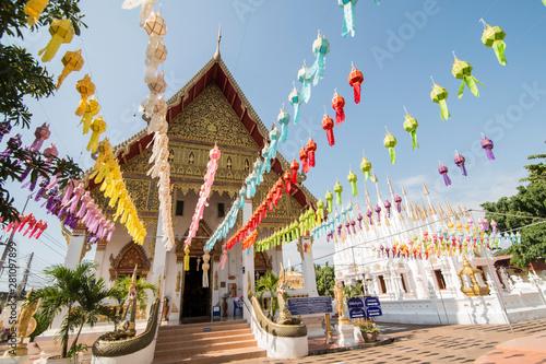 Fotomural  THAILAND PHRAE WAT PONG SUNAN TEMPLE