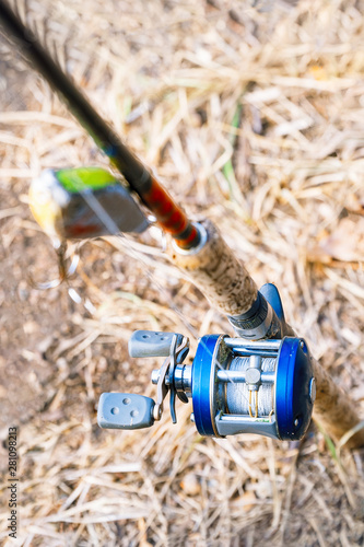 Spinning with baitcasting reel and bait Fototapet