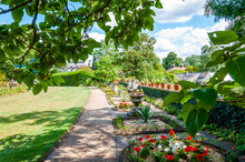 London, UK - July 20, 2019:Kitchen Garden At Myddleton House Gardens,where You'll Discover The History And Restoration Of The Garden Along With Seasonal Produce