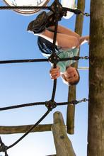 A Backyard Climbing Cargo Net