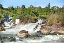 The Mekong Waterfall In Laos