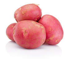 New Red Potato Isolated On White Background