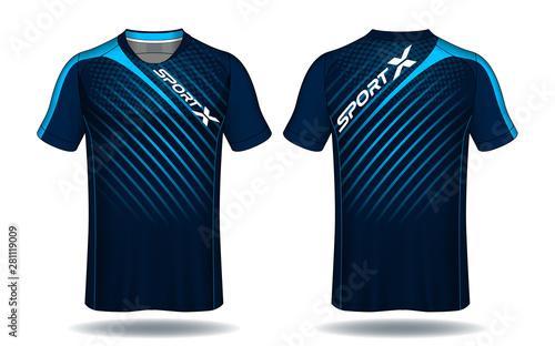 Obraz na plátně Soccer jersey template.sport t-shirt design.